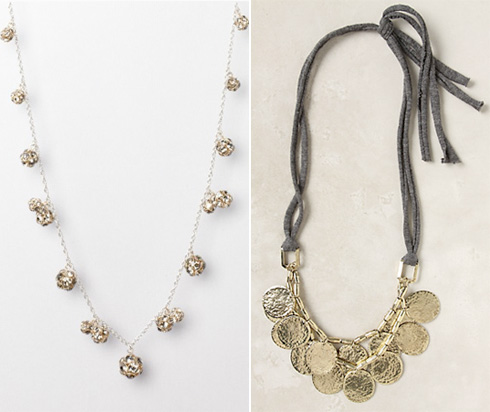 LOFT and Anthropologie necklaces