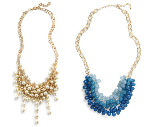 Bauble necklaces from Modcloth